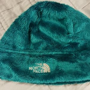 The North Face Fuzzy Green Muppet Hat In Teal.
